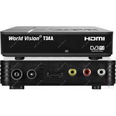 Эфирный цифровой ресивер World Vision T34A DVB-Т2