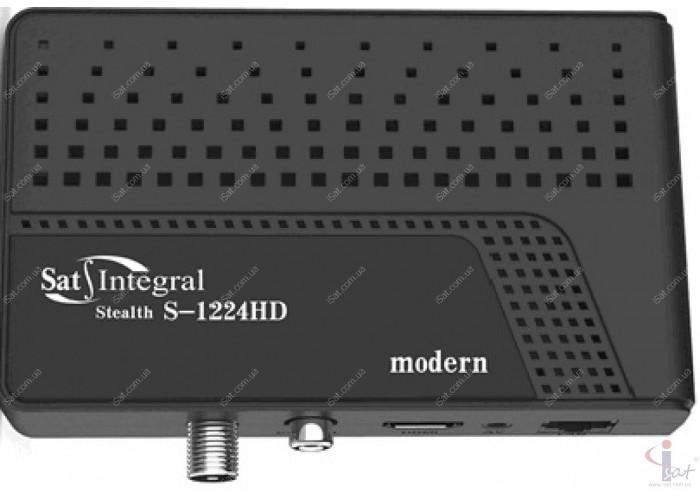 Спутниковый ресивер Sat-Integral S-1224 HD Stealth modern