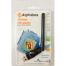Беспроводной USB Wi-Fi адаптер ALPHABOX 2dBi