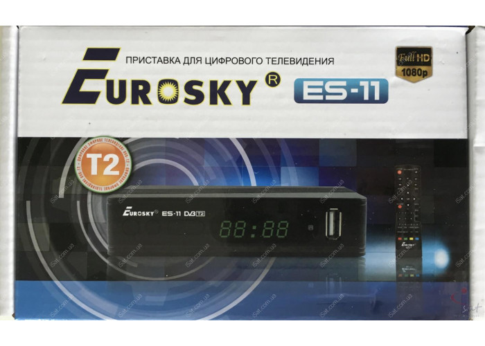 Эфирный цифровой ресивер Eurosky ES-11 DVB-Т2