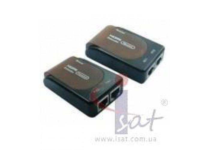 HDMI Extender 1080p Удлинитель через 2 витые пары RJ45 Cat5 cat6 cat7