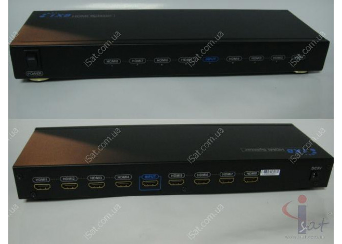 HDMI Splitter Amplifier 1x8