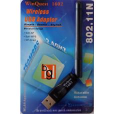 Беспроводной USB Wi-Fi адаптер WinQuest 1602 2dBi в блистере