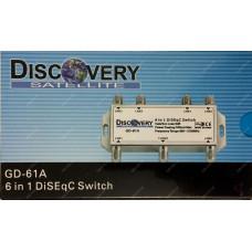 Коммутатор DiSEqC 6x1 Discovery GD-61A