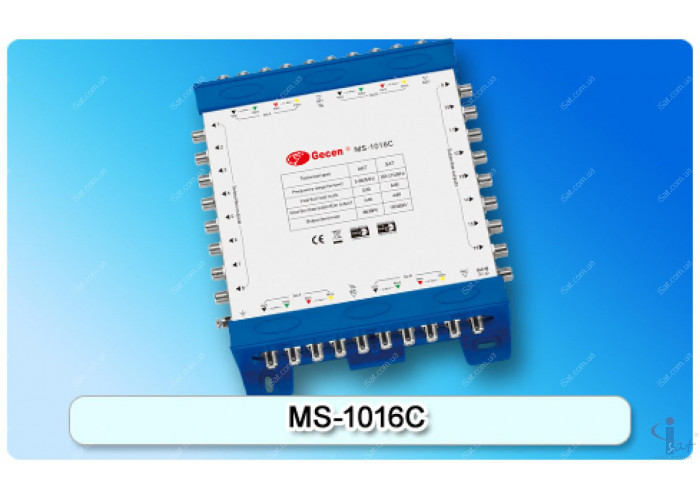 Мультисвитч каскадируемый 10/16 Gecen MS-1016C