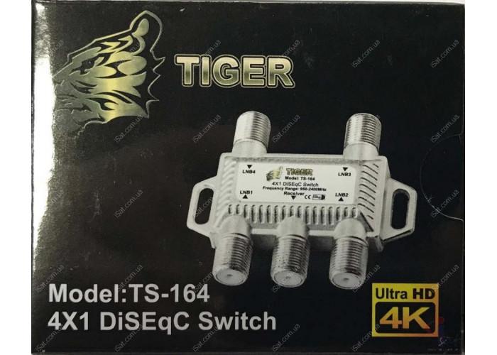 Коммутатор DiseqC 4x1 Tiger TS164