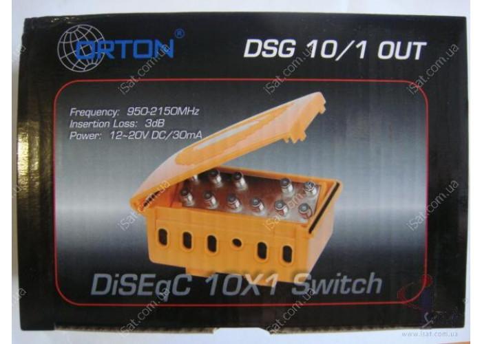 Коммутатор DiSEqC 10in1 ORTON