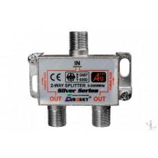 Сплитер 2 way 5-2500МГц с проходом питания