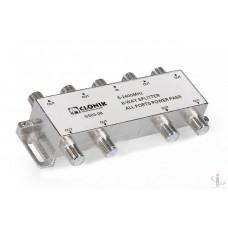 Сплиттер 8 way 5-2400Мгц с проходом питания Gecen Clonik GS03-08