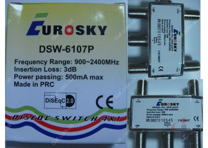 Коммутатор DiSEqC 4x1 Eurosky DSW-6107P