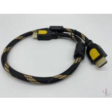 HDMI кабель 0.5 м плетеный с ферритовыми фильтрами