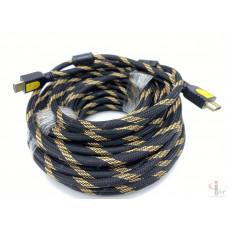 HDMI кабель HQ, 20 м плетеный с ферритовыми фильтрами