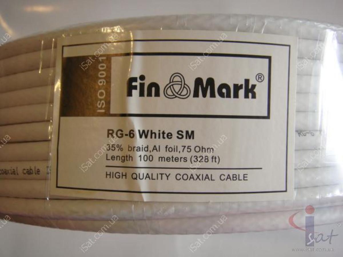 Кабель FinMark RG-6 (100м) 75 Ом белый