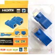 HDMI 30m 2 CAT-5e/6 Удлинитель HDMI через 2 витые пары