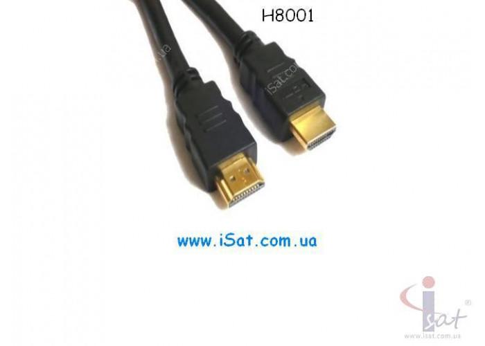 HDMI шнур 30AWG H8001 черный 1.5м.