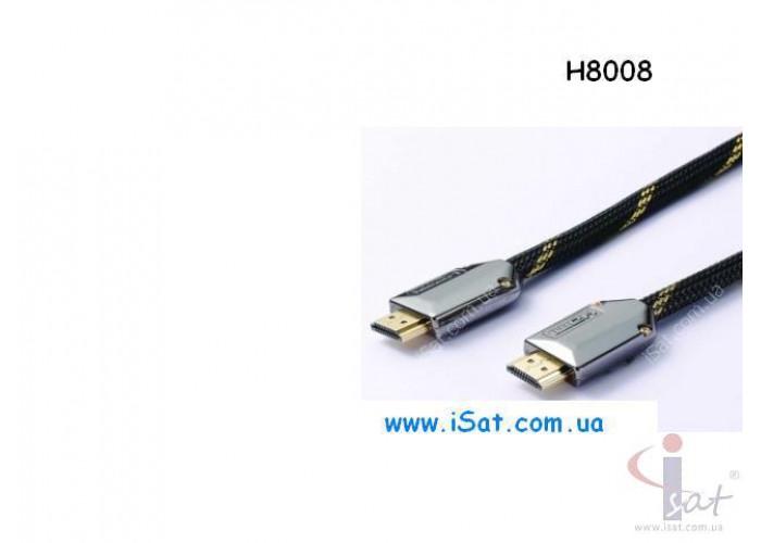 HDMI шнур 30AWG H8008 черный перламутр 1.5м.