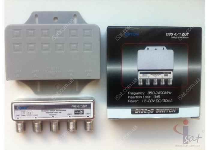 Коммутатор DiSEqC 4x1 ORTON DSG4/1OUT