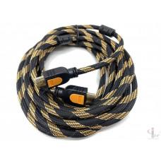 HDMI кабель 5 м плетеный с ферритовыми фильтрами