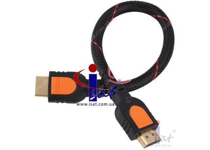 Кабель HDMI 30 AWG 1.4V 1080P черный 0.3м