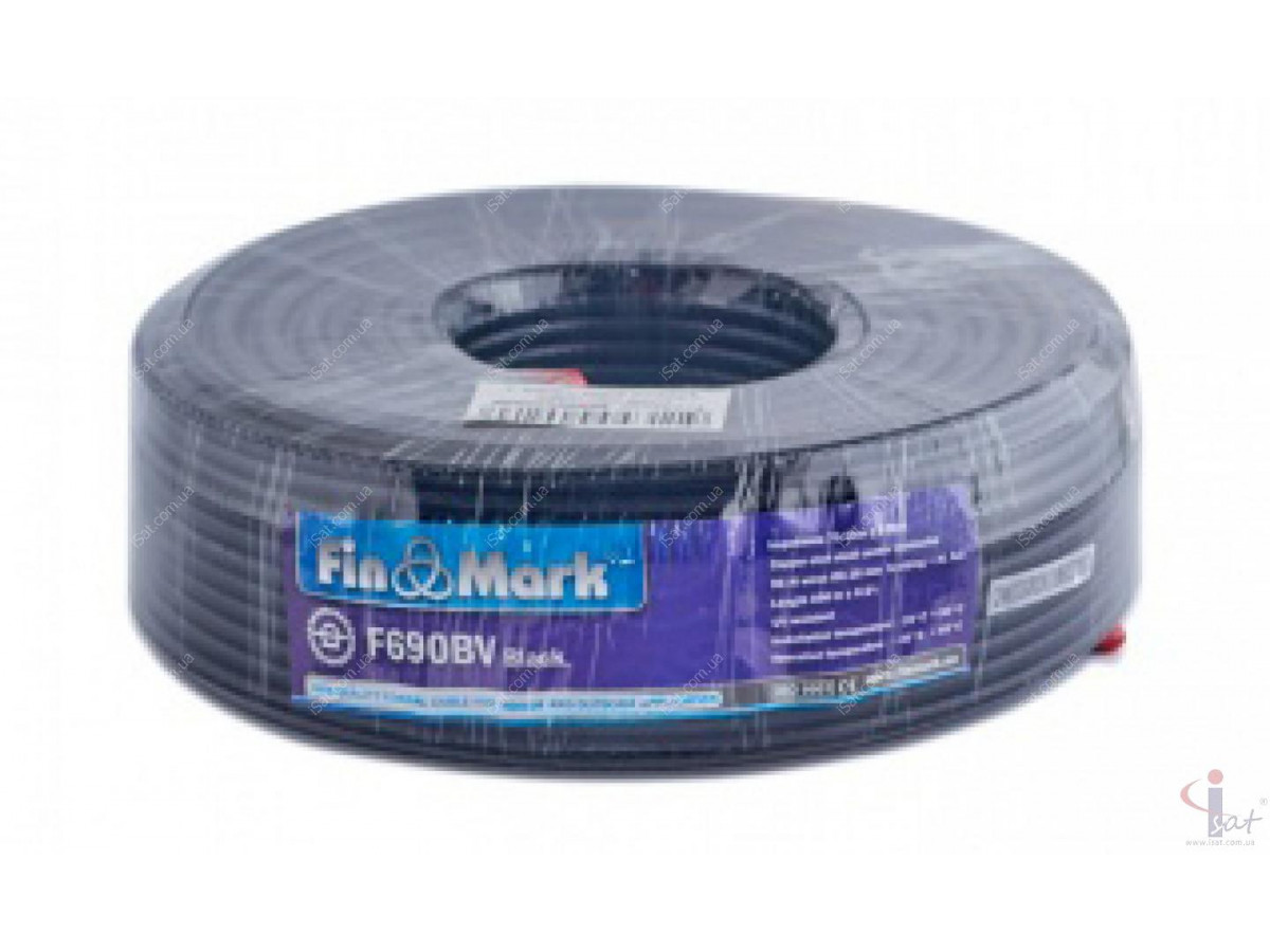 Кабель FinMark F690BV (100м) 75 Ом черный