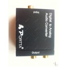 Преобразователь звука Optic Coaxial в аналоговый RCA