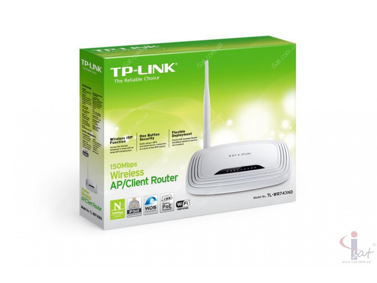 Маршрутизатор Wi-Fi TP-Link TL-WR743ND