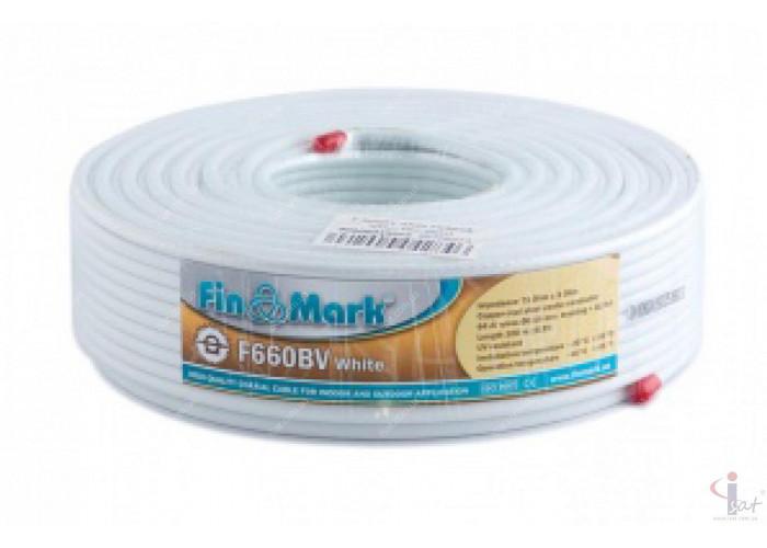 Кабель FinMark F660BV (100м) 75 Ом белый