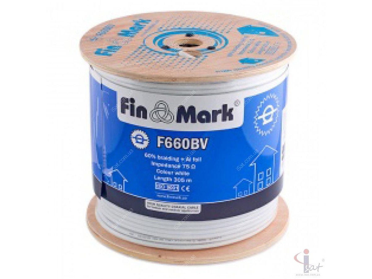Кабель FinMark F660BV (305м) 75 Ом белый (Размотка)