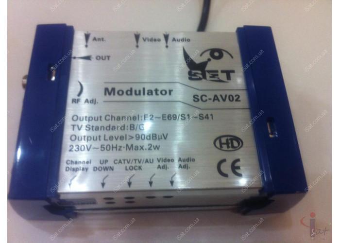 Модулятор 2-69 канал SET SC-AV02