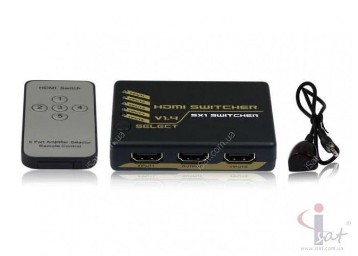 HDMI Switch 5 in 1 V1.4 Свичер HDMI сигнала 5 входов 1 выход 4Kx2K