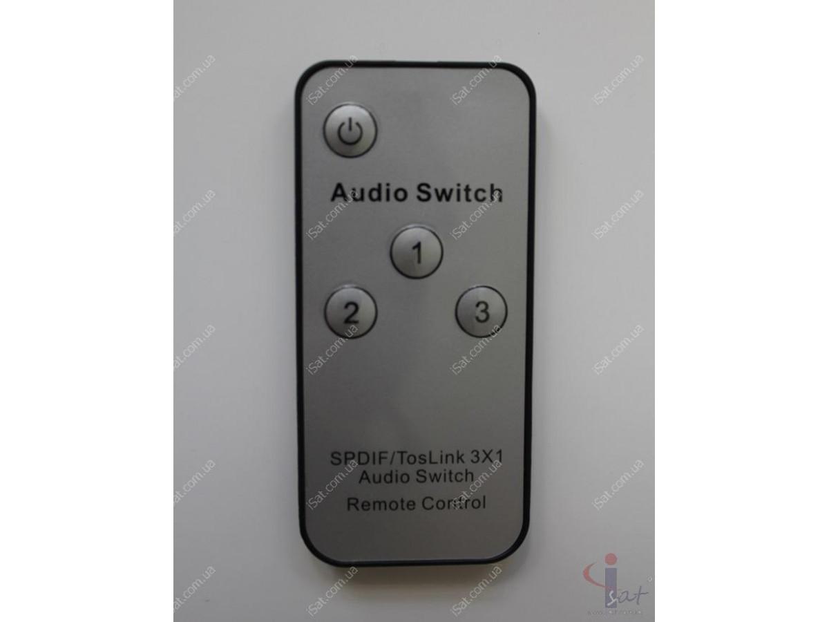 Оптический аудио переключатель SPDIF 3 входа 1 выход