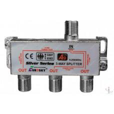 Сплитер 3 way 5-2500МГц с проходом питания
