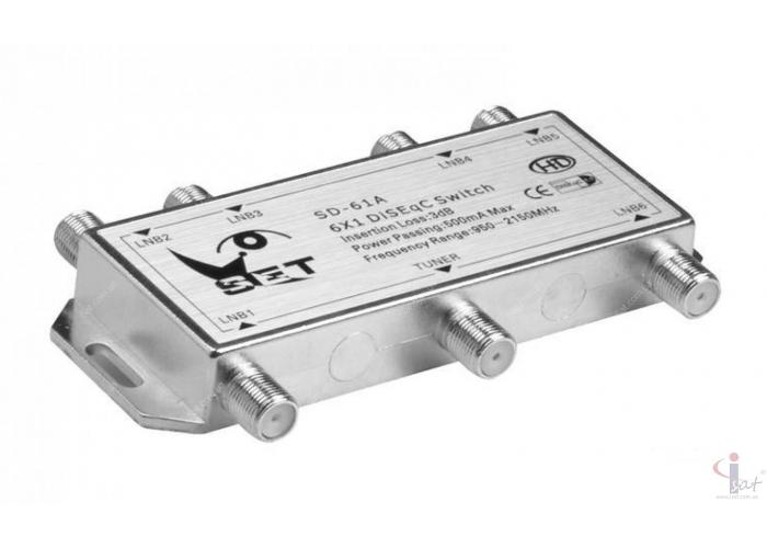 Коммутатор DiSEqC 6x1 SET SD-61A