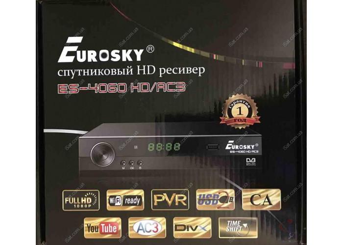 Спутниковый ресивер Eurosky ES 4060HD AC3